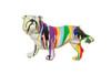 "Interior Illusions Graffiti Bull Dog With Leg Up - 10"" Long"