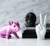 "Interior Illusions Pink Chrome Piggy Standing - 9.5"" Long"