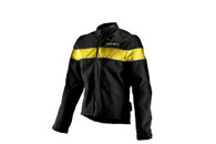 Women's Corazzo Speedway Jacket Black/Yellow in Size 2XL