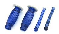 22mm Biemme Superflex Grips and Lever Covers-Blue