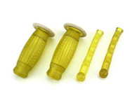 22mm Biemme Superflex Grips and Lever Covers-Yellow