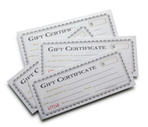 Gift Certificate $25.00 FREE SHIPPING