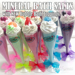 Champagne Flute - Mineral Salts + Bubble Bath topping