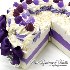 Black Raspberry & Vanilla Soap Cake Slice