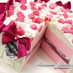 Marshmallow Moments Soap Cake Slice
