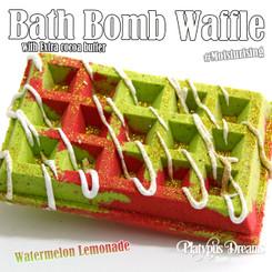 Watermelon Lemonade Waffle Bath Bomb 200g