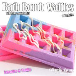 Lavender & Vanilla Waffle Bath Bomb 200g