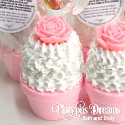 Pink Cupcake Bubble Bath Bomb - Pink - 90g
