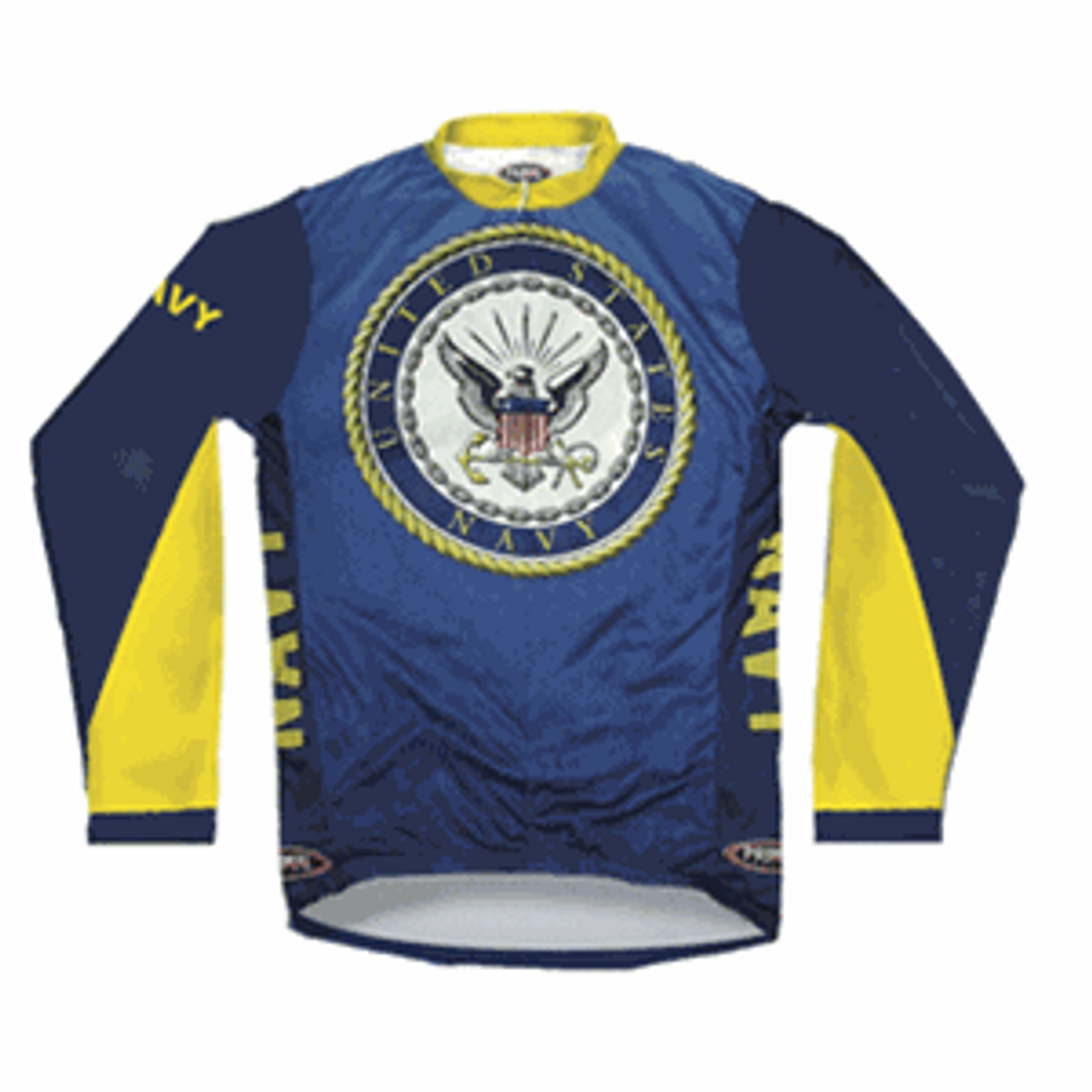 Primal Wear Men's Long Sleeve US Navy Cycling Jersey