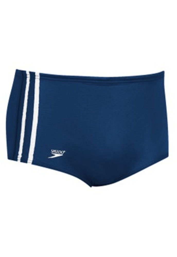 Speedo Men's Stripe Square Leg Swimsuit