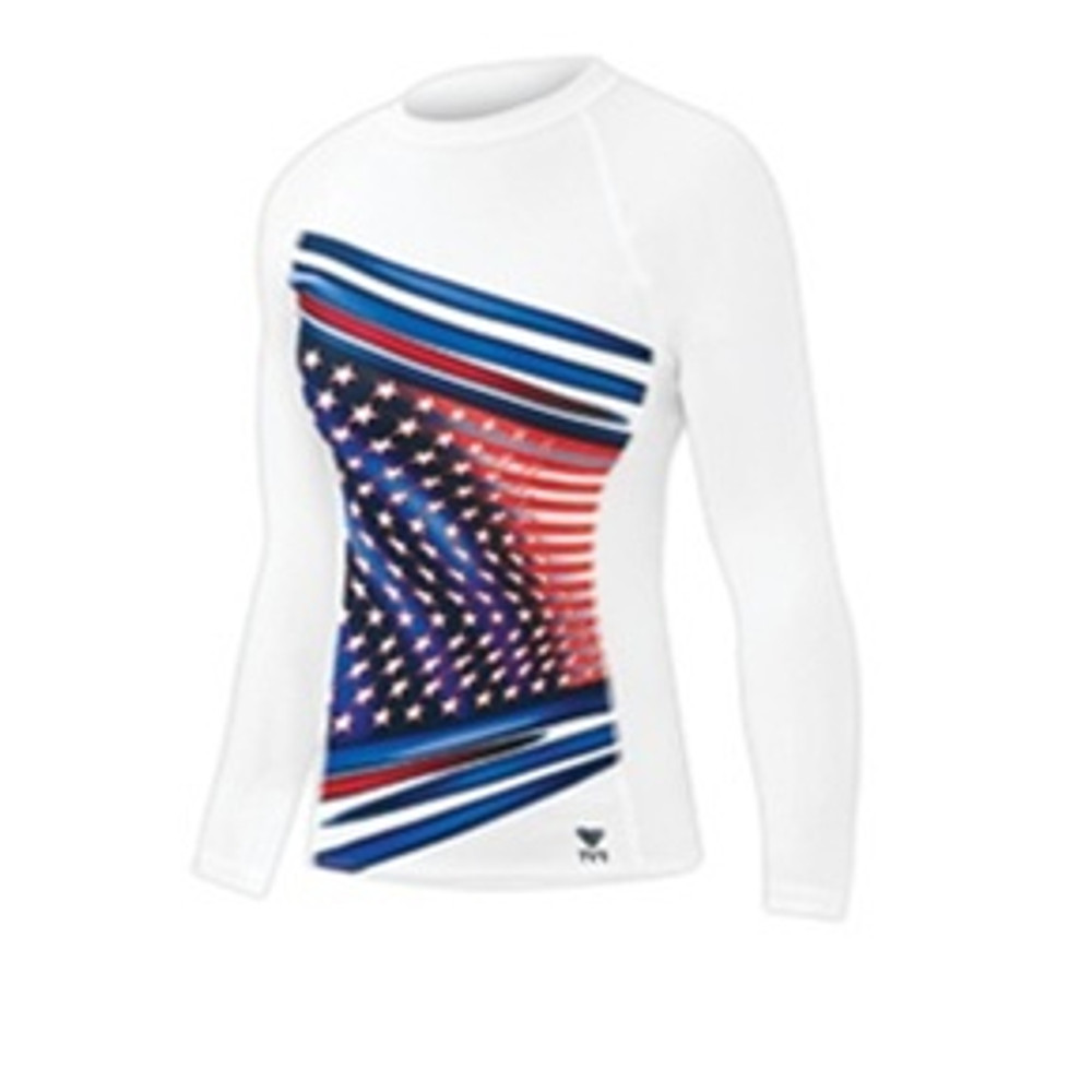 TYR Women's American Ace Rash Guard