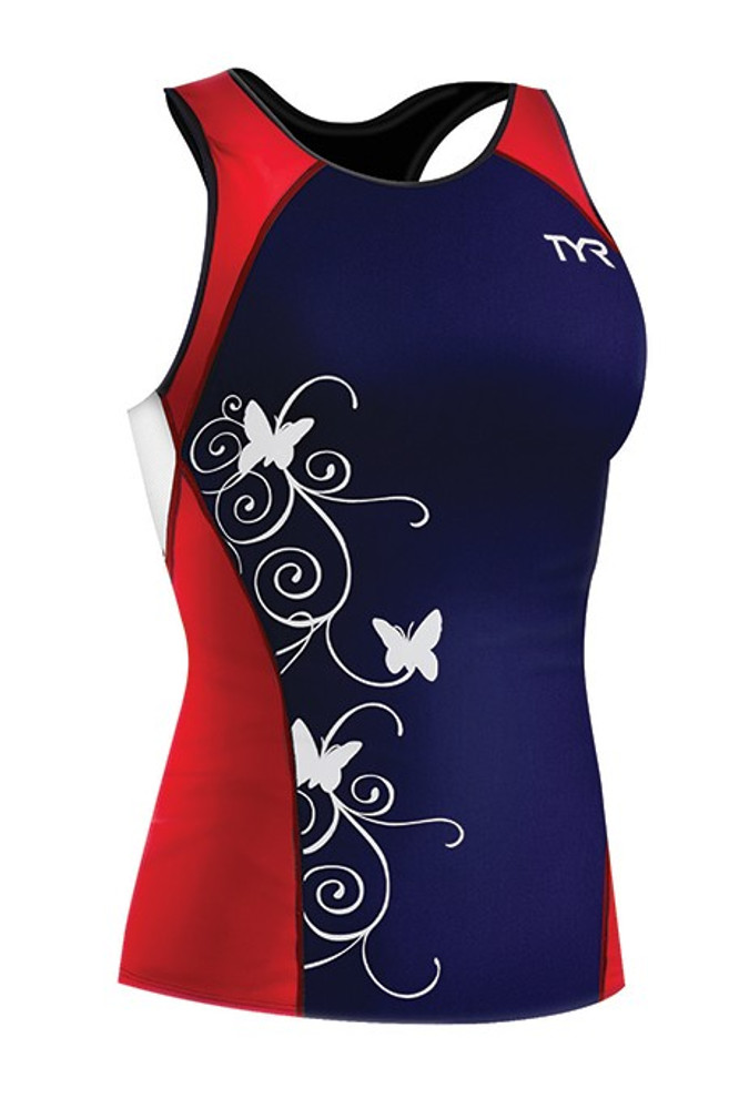 TYR Women's Competitor Fitted Tri Tankini With Print