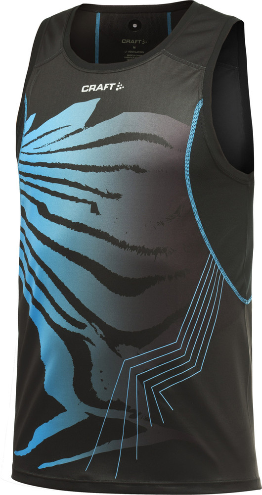 Craft Men's Performance Run Sublimated Singlet