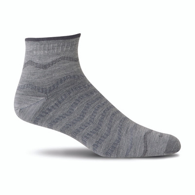 Sockwell Men's Plantar Ease Quarter Firm Compression Sock - 2017