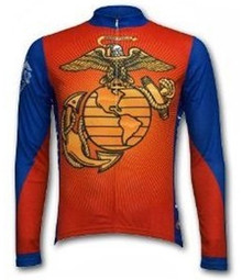 Primal Wear Men's Long Sleeve US Marines Cycling Jersey - Only Size S Left!
