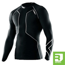 2XU Men's Refresh Swimmers Long Sleeve Compression Top - 2015
