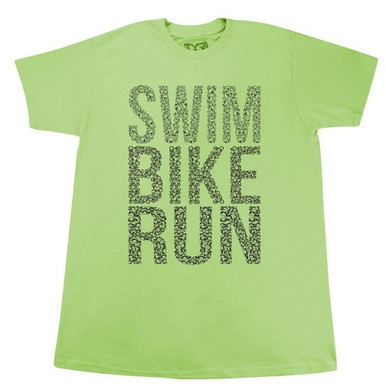 TYR Men's Swim Bike Run Crew Neck
