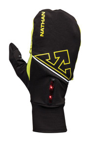 Nathan Men's PopTop Convertible Running Glove/Mitt with Lightwave LED Tech