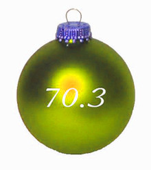70.3 Christmas Ornament