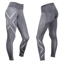 2XU Women's Patterned Mid-Rise Compression Tights