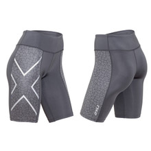 2XU Women's Patterned Mid-Rise Compression Shorts