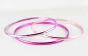 """Three Shades of Pink"" Bangle Bracelet"