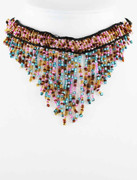 Multi-color Beaded Fringe Choker