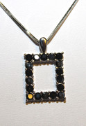 Frame of the Future Rhinestone Necklace
