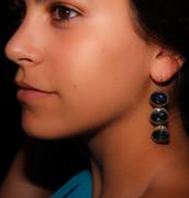 Blue Waterfall Drop Earrings