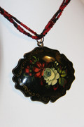 Russian Garden Hand Painted Necklace