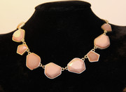 Dusty Pink Stone Mosaic Necklace
