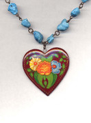 """Heart on Turquoise"" Necklace"