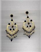 "Golden ""Old India"" Chandelier Earrings"