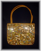 Golden Spark Sequined Chic Handbag