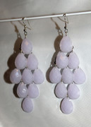 Lavender Chandelier Earrings with Large Faceted Drops