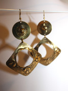 Gipsy Brass Earrings
