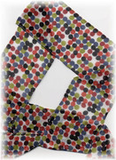 Multi-Color Polka Dot Scarf / Headband Wrap / Sash Belt