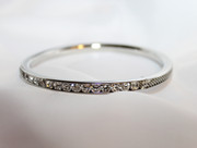 Rhinestones and Mesh Bangle