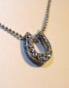 Sliding Rhinestone Horseshoe Necklace