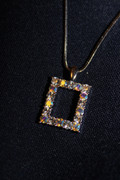 Rhinestone Rectangle Necklace