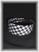 Black & White Hounds Tooth Headband