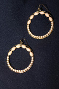 """Ivory Gold"" Hoop Earrings"