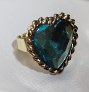 Blue Heart Fashion Ring