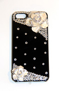 Black iPhone Case with Rose