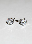 Cristal Clear Sparkler Studs Cubic Zirconia Post Earrings