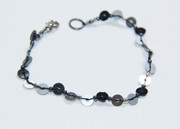 Black and Silver Sequins Bracelet