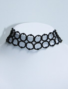 Black Beaded Choker Necklace