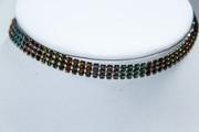 Multi-Color Mesh Choker Necklace