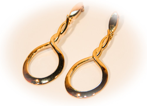 Golden Infinity Loop Earrings