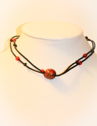 The Red Wooden Bead Chakra Necklace